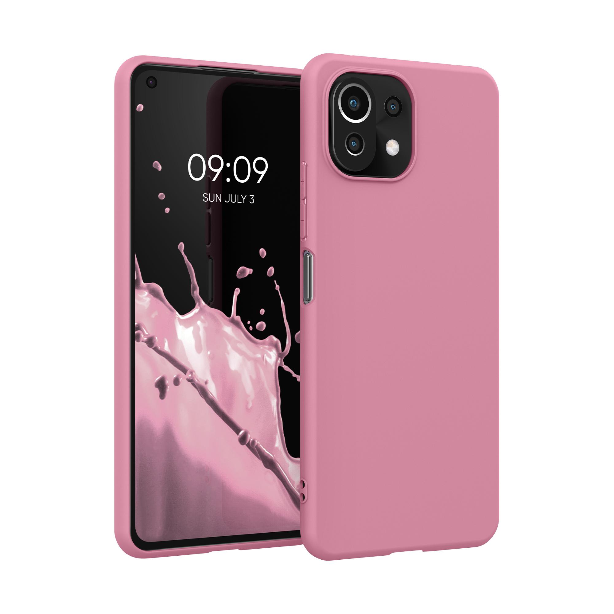 Kvalitní silikonové TPU pouzdro | obal pro Xiaomi Mi 11 Lite (5G) -  Sytě rezavá růžová