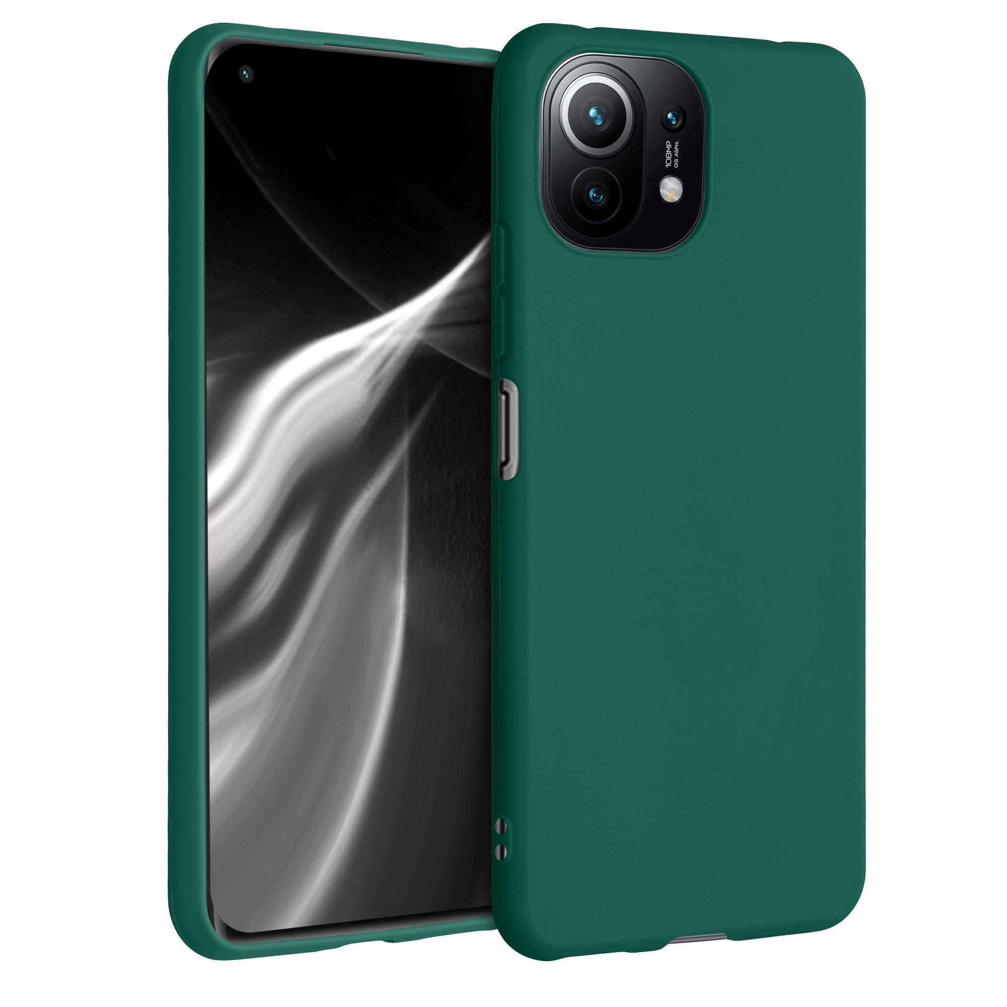 AKCE IHNED! Kvalitní silikonové pouzdro obal pro Xiaomi Mi 11 Lite (5G) Zelená
