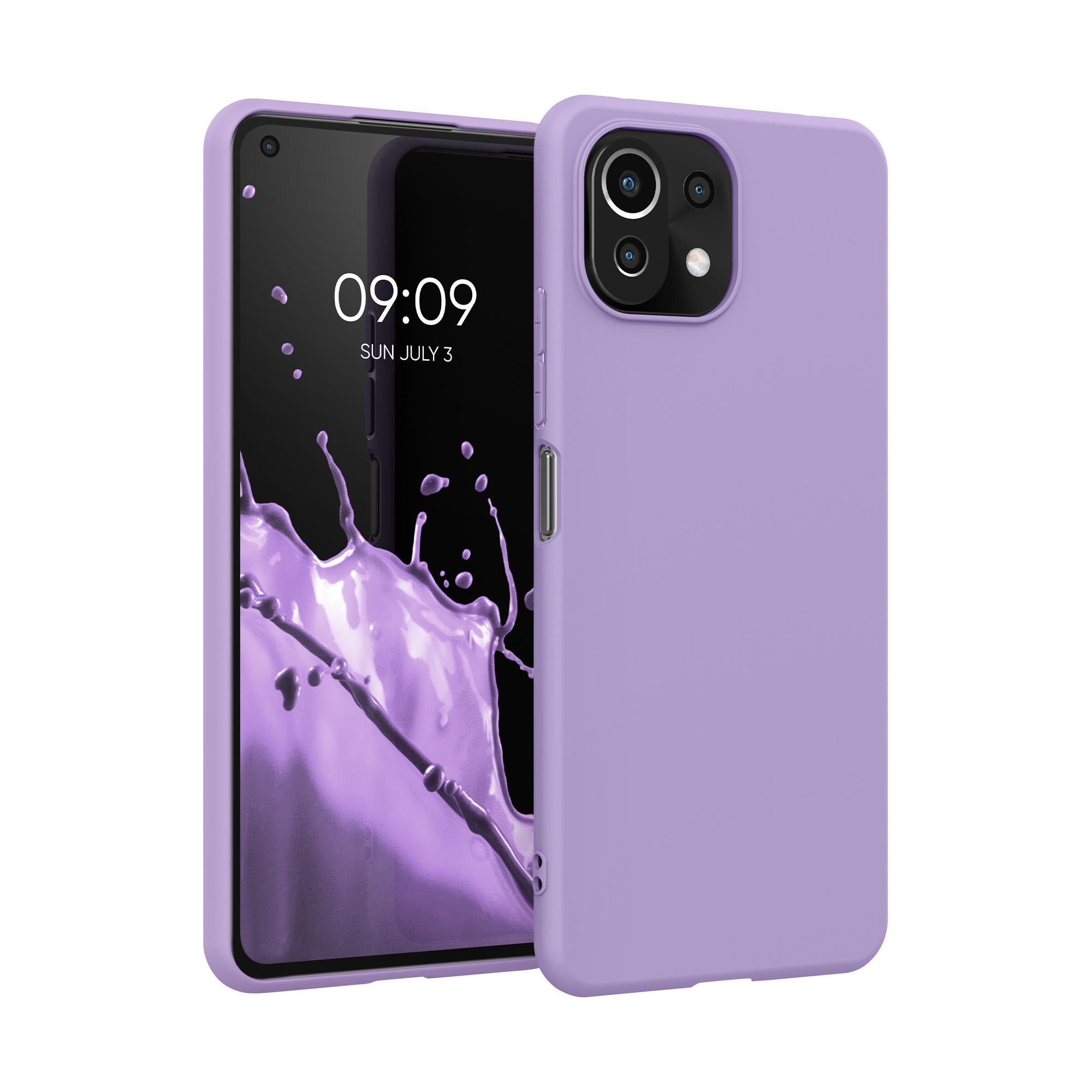 Kvalitní silikonové TPU pouzdro   obal pro Xiaomi Mi 11 Lite (5G) -  Fialově fialová