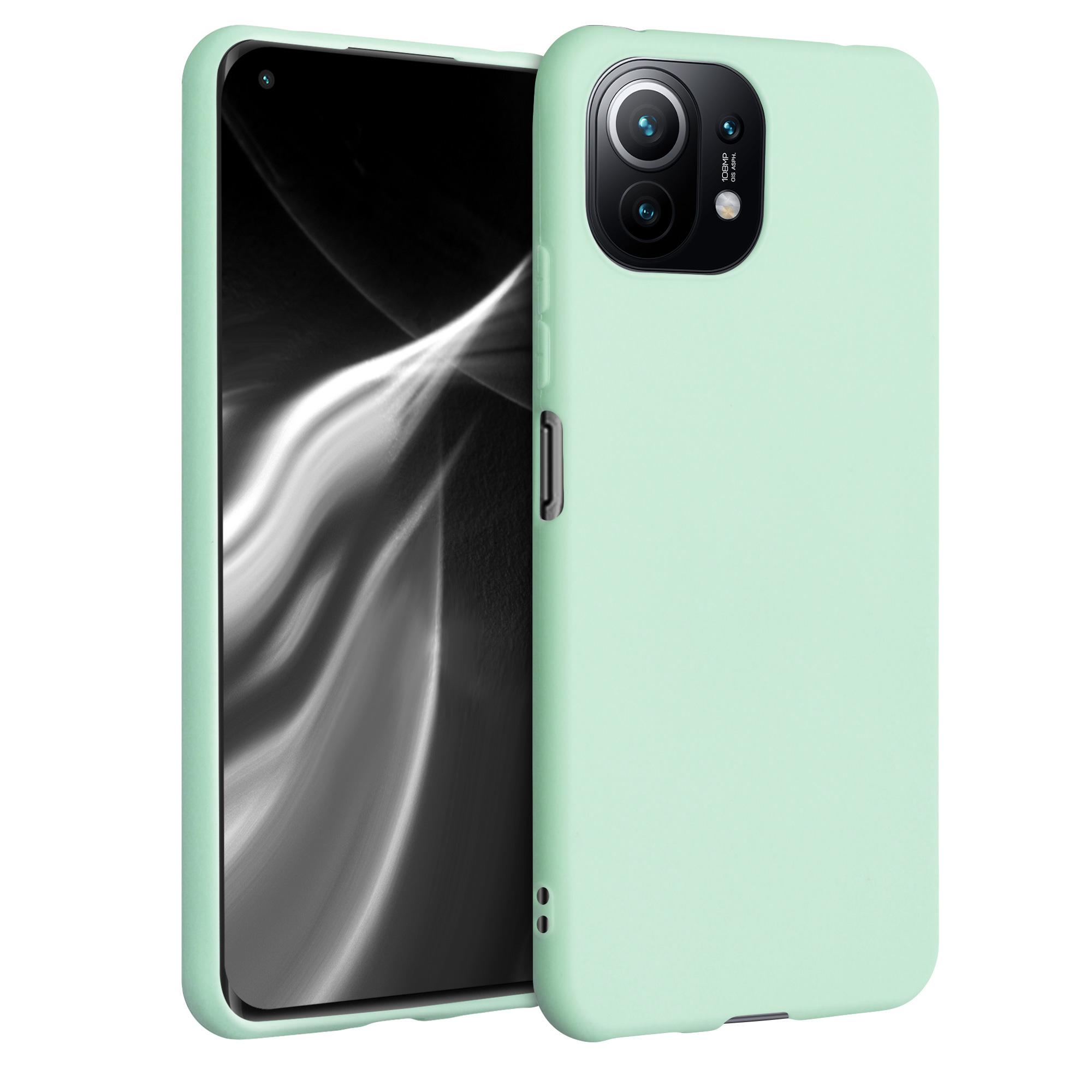 Kvalitní silikonové TPU pouzdro | obal pro Xiaomi Mi 11 Lite (5G) -  Mátová matná
