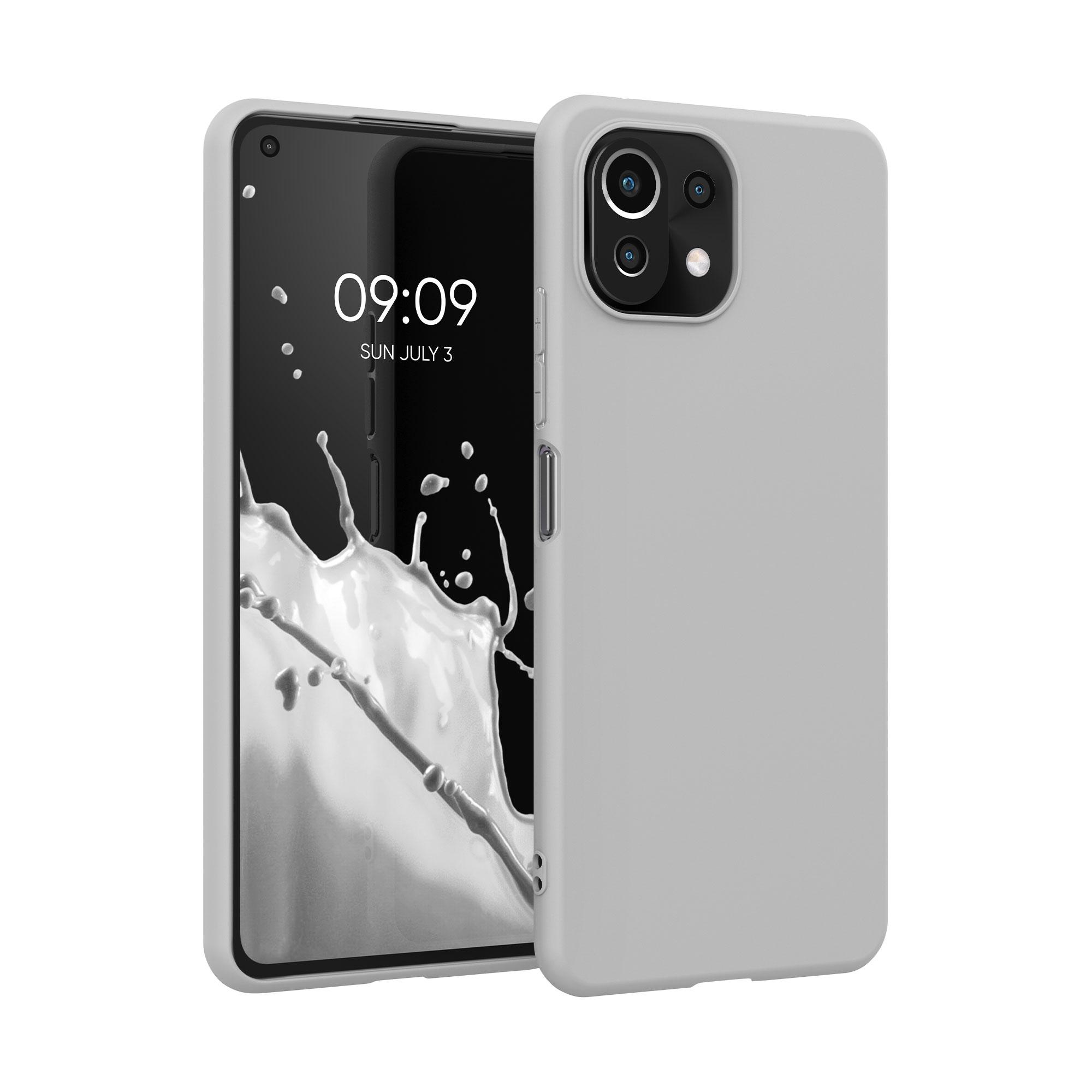 Kvalitní silikonové TPU pouzdro   obal pro Xiaomi Mi 11 Lite (5G) -  Světle šedá matná