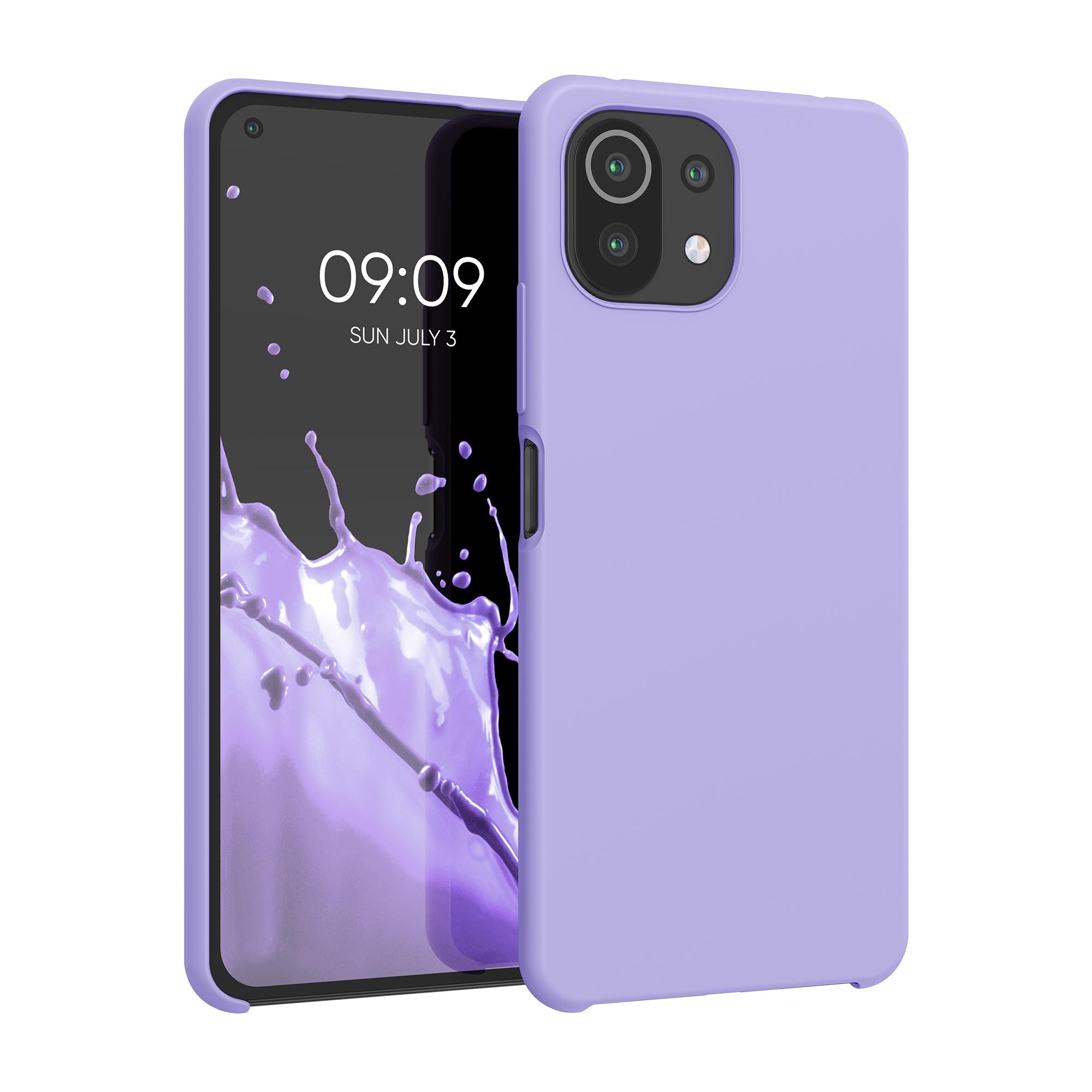 Kvalitní silikonové TPU pouzdro   obal pro Xiaomi Mi 11 Lite (5G) -  Levandulová