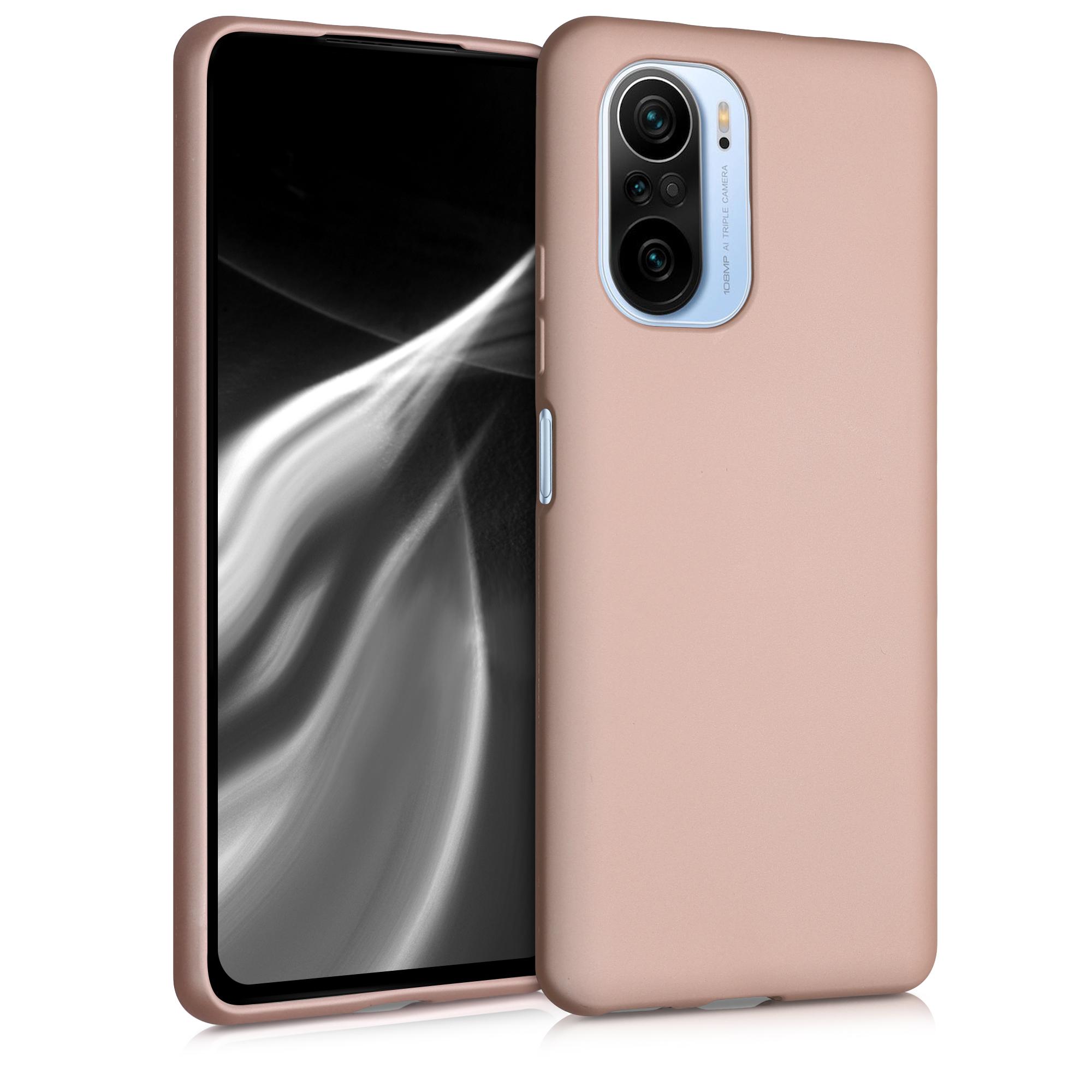 Kvalitní silikonové TPU pouzdro | obal pro Xiaomi Mi 11i -  Metalická růžově zlatá