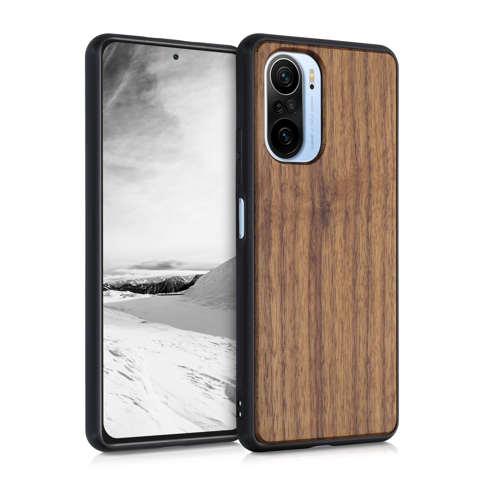 Dřevěné pouzdro | obal pro Xiaomi Mi 11i / Poco F3 -  Tmavě hnědá