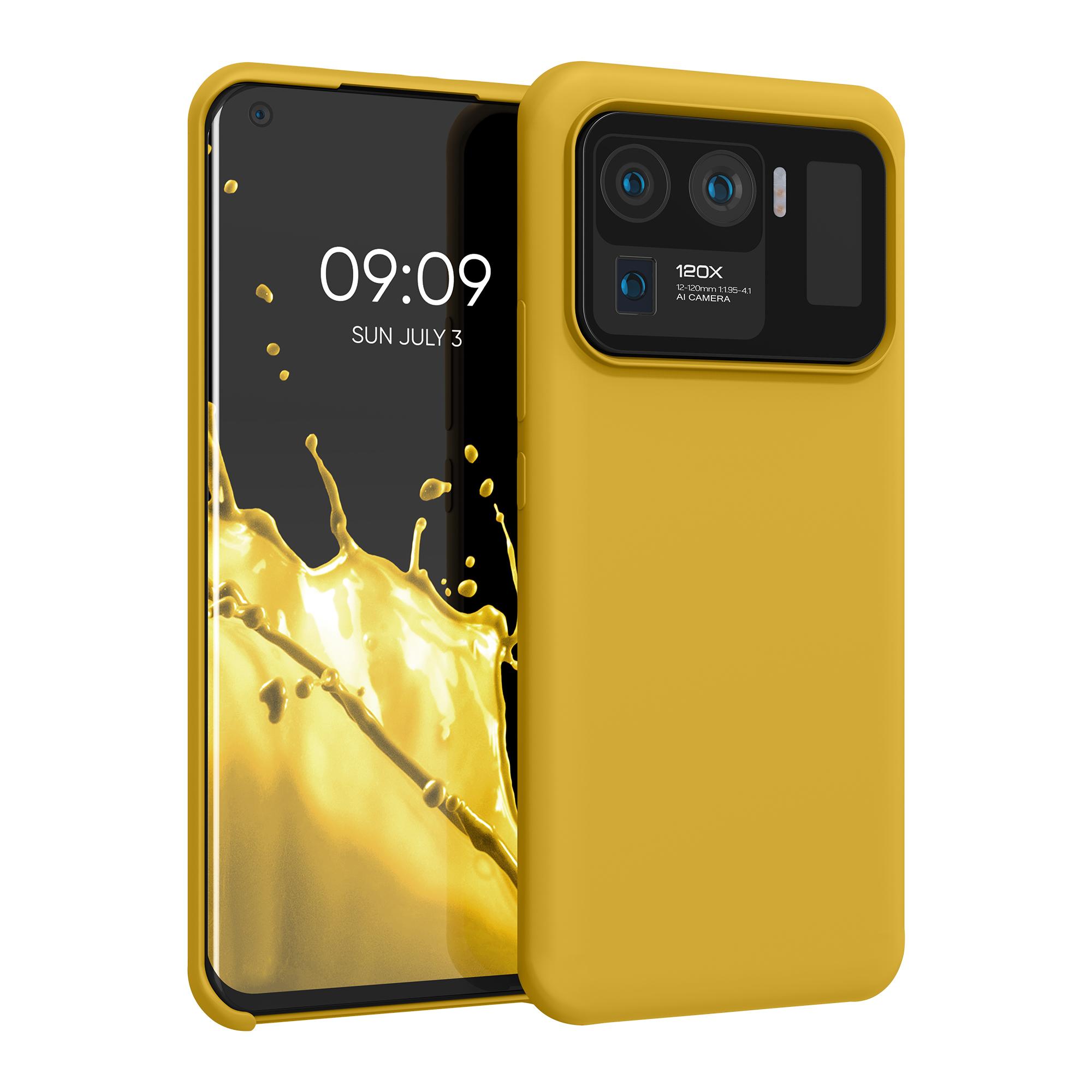 Kvalitní silikonové TPU pouzdro | obal pro Xiaomi Mi 11 Ultra -  Medově žlutá