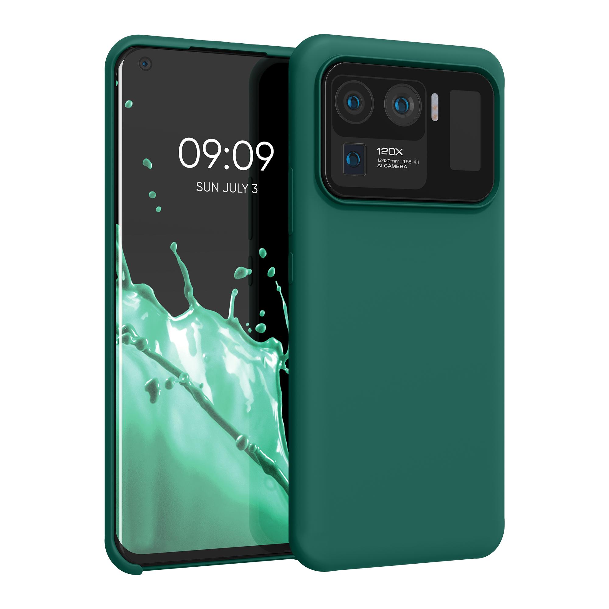Kvalitní silikonové TPU pouzdro | obal pro Xiaomi Mi 11 Ultra -  Tyrkysově zelená