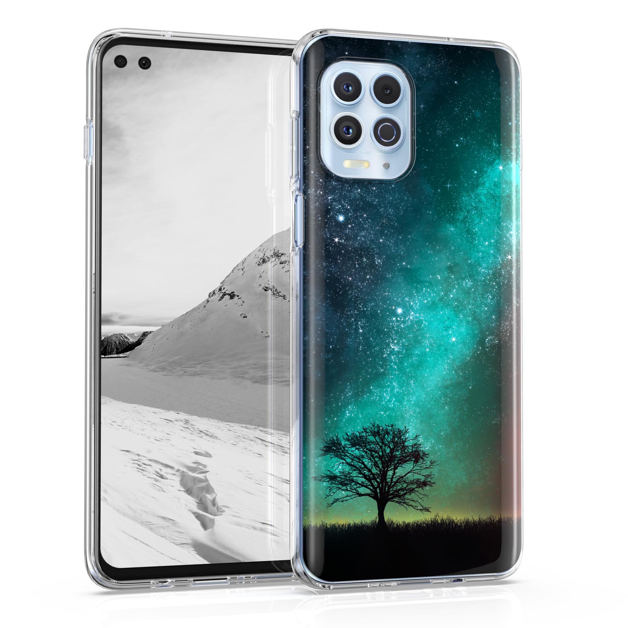 Kvalitní silikonové TPU pouzdro | obal pro Motorola Moto G100 / Edge S -  Cosmic Nature Modrá / Šedá / Černá